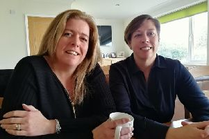 Mums Nikki Kimber and Sue Armstrong, who have daughter with special needs and disabilities