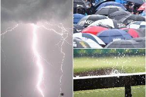 Heavy rain, thunder and lightning are expected across Wakefield this afternoon as a thunderstorm warning is issued.