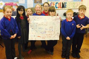 Some of the children from Primet Primary in Colne
