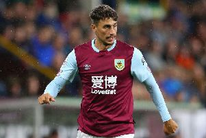 Burnley right back Matthew Lowton