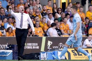 Burnley manager Sean Dyche during his side's 1-1 away draw with Wolverhampton Wanderers.