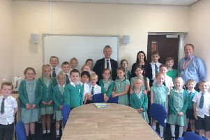 MP Nigel Evans with student councillors
