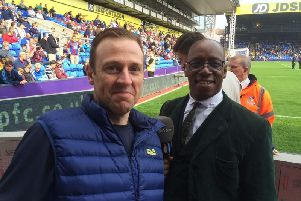 Paul with former Arsenal and Burnley legend Ian Wright
