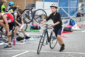 No time to waste as the athletes race from one discipline to the next in the Fleetwood Triathlon