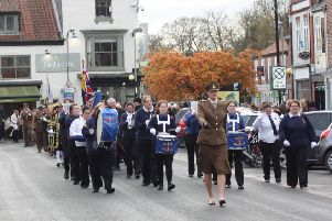 The Pocklington Remembrance Day Parade will take place on Sunday, November 10.