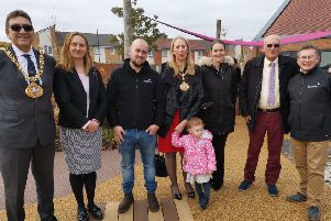 Members of the Rolawn team at the official opening of Grace House Hospice in Sunderland.