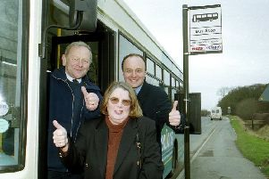Thumbs up for a bus service in 2001.