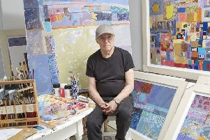 Artist John Sprakes in his studio.