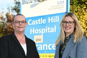 Patricia Hogger, registered manager at the suite, and Laura Harding (director of Glenfields Care Home).