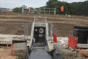 Part of the flood alleviation scheme that protects Pocklington.