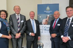 Nicholas Pollard, Group Chief Executive of Cory Riverside Energy (centre) addressed the sell-out event.