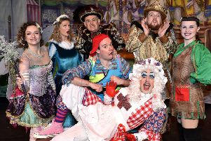 Scarborough Spa panto. Robin Hood Babes in the Wood  main cast''pic Richard Ponter