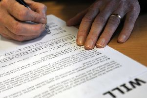 Writing a Will.