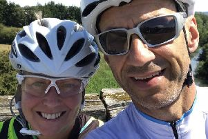 Lisa and Glyn Payne are taking part in this year's Ride 100.