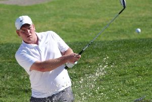 Chris Nay in last year's Gazette Matchplay finals in Portugual