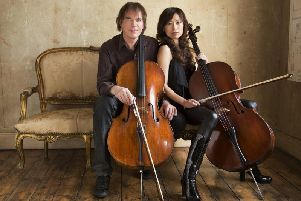 Julian Lloyd Webber and his wife Jiaxin