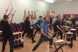 A Taiko drumming workshop