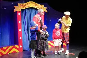 There was lots of audience participation during the show for Pocklington CE Infant School.