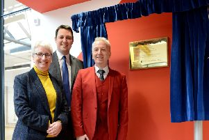The leader of Hartlepool Brough Council Councillor Christopher Akers-Belcher (right) with the Chief Executive of Hartlepool Borough Council Gill Alexander and Tees Valley Mayor Ben Houchen during the opening of the Biz Whitby Street. Picture by FRANK REID