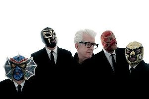 Nick Lowe's Quality Rock and Roll Revue, starring Los Straitjackets, comes to PAC on Tuesday, June 25.