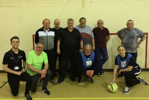 The new Indoor Walking Football sessions are held on Mondays at Stamford Bridge Sports Hall.