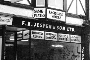 Nostalgia - Jesper's stationery store in the 1960s on Oxford Street.