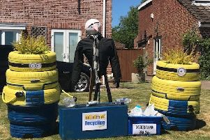 One of the excellent scarecrows from last year's Bishop Wilton Scarecrow Festival.