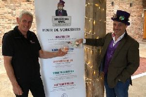Paul Bartram of Barmbyfield Barns and Neil Hepplewhite of Hooting Owl Distillery.
