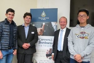 Nicholas Pollard, Old Pocklingtonian and Chief Executive of Cory Riverside Energy with Pocklington School Sixth Form students at a Pocklington School Foundation Careers and Business Network event.