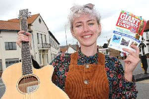 Singer-songwriter Evie Barrand and actor Mark Addy will officially open the Giant Community Day at Market Weighton.