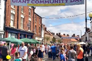 The town was packed for Market Weighton Giant Community Day.