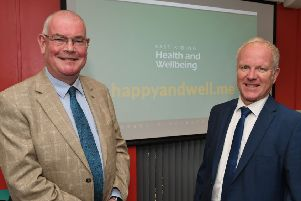 Councillor Jonathan Owen with John Skidmore, director of adults, health and customer services.