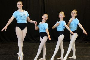 Talented dancers Allie Bryce, Isabelle Rooks, Amelia Winstone and Gracie Cheshire.