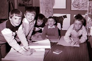 What are these five youngsters working on in 1986?