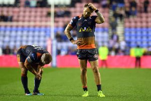 Jordan Rankin ponders Castleford's defeat in Wigan last Thursday.