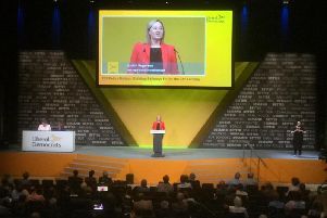"""""""The way we run our railways needs a serious rethink"""" - Judith Rogerson, the Lib Dem Prospective Parliamentary Candidate for Harrogate and Knaresborough, speaking at this week's Lib Dem party conference."""