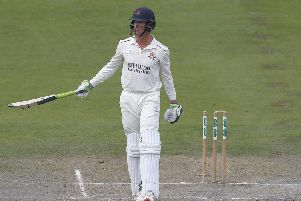 Lancashire's Keaton Jennings was dismissed for 97 for the second time this season'Picture: PRESS ASSOCIATION