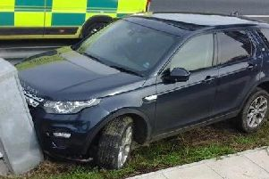 Land Rover collision on the M1 southbound near Wakefield.