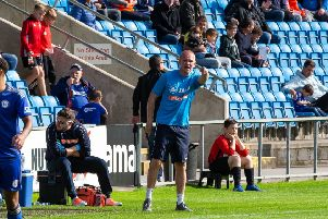 Actions from FC Halifax Town v Solihull Moors, at The Shay, Halifax. Pictured is Pete Wild