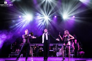 Dale Vaughan as Billy Flynn in Diva Productions performance of Chicago at The Carriageworks Theatre, Leeds.