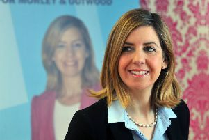Morley and Outwood MP Andrea Jenkyns has spoken of finding disgusting graffiti written the wall to her office