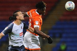 Blackpool go into today's game on the back of Monday's draw against Bolton Wanderers