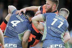 Will Maher in action for Castleford Tigers against Warrington Wolves earlier this season. (PIC: Chris Mangnall/SWpix.com)