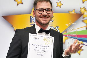 Dr Tom Milligan winner of the NAPC Clinician of the Year Award 2019