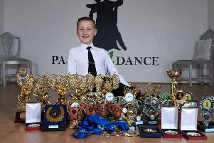 Leon Norfolk won four trophies during a big dance tournament in Blackpool.