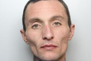Jamie Clark took his shirt off before repeatedly strikingone man with a pole after an argument in South Elmsall near Pontefract, Leeds Crown Court heard.