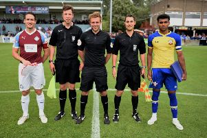 South Shields line up against Southampton in the  South Shields FC International Tournament.