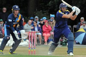 Tim Bresnan in batting action for Yorkshire this year.