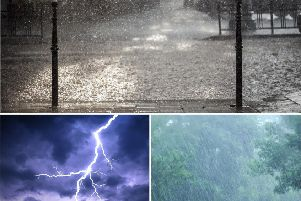 A yellow warning for thunderstorms is in place for Wakefield today
