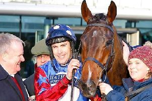 Aidan Coleman after the first Grade One victory of his career aboard Paisley Park in the JLT (Long Walk) Hurdle at Ascot.